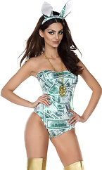 Money Bunny Sexy Rabbit Costume by Forplay
