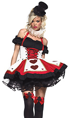 2 Piece Pretty Playing Card Costume