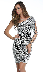 Escape - One shoulder animal print sexy dress by Forplay
