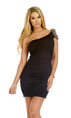 Splendor Beaded Shoulder Dress by Forplay