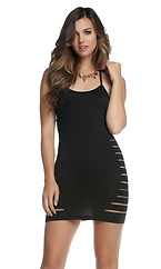 Elise Halter Bodycon Slash Dress