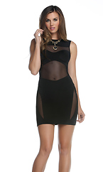 Tyler Bandeau Illusion Dress