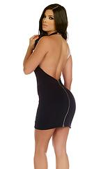 Addison Halter Zipperback Mini Dress
