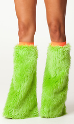 Neon Furry Legwarmers by Forplay