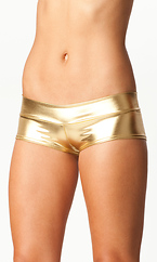 METALLIC BOY SHORTS WITH BAND