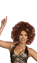 Light-Up Afro Wig