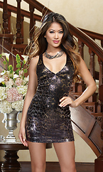 Lusty Leopard Club Dress