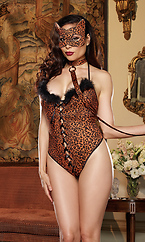 Plus Size Cheeta-luscious Sexy Cat Costume; 3 pc Set
