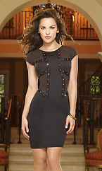 Rusty Nail Illusion Studded Club Dress
