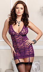 Lace chemise and g-string