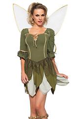 2PC. Rebel Tink, woodland petal dress, gold lurex wings