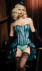 Betty Corset,with support boning and front zipper
