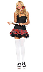 3 PC School Girl Halloween Costume Accessory Kit